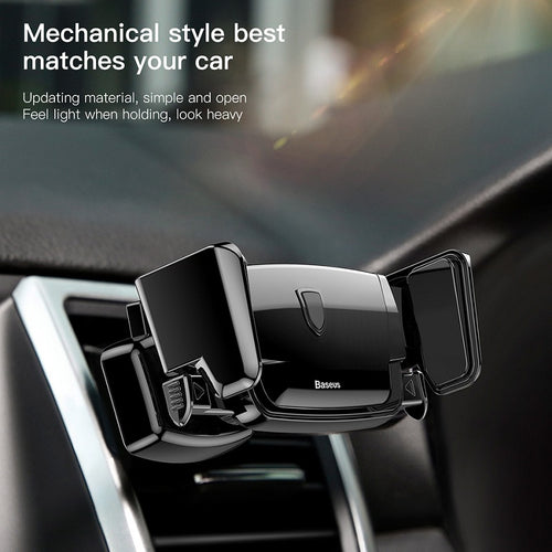 Baseus Robot Air Vent Car Mount Phone Holder Auto Clip Stand for For iPhone X / XS, 8 7 Samsung S8 [Cellphone Mobile Phone Holder Stand]