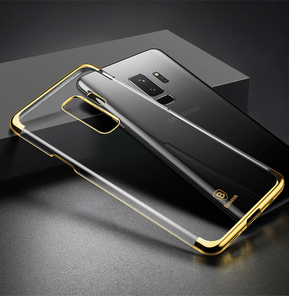 Luxury High End Electroplated Naked Hard Shell PC Back Case for Samsung Galaxy S9