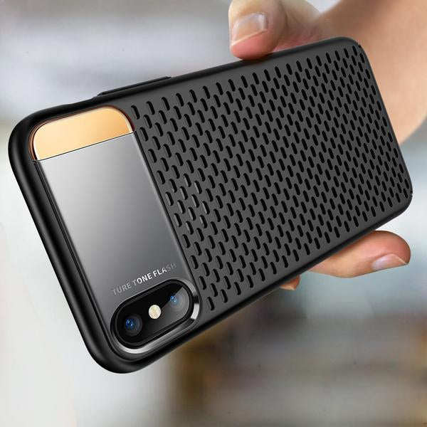 check out db217 88bf8 For iPhone X Luxury Heat Dissipation Case Back Cover for iPhone X / XS 2018