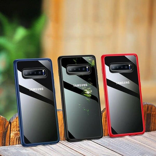 Henks® Light Pro Anti Shock Hybrid Clear PC Back Case for Samsung Galaxy S10