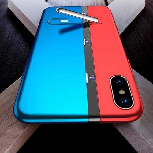 Luxury Built In Magnetic Adsorption Bracket Back Case with Kickstand for Apple iPhone X / XS 2018
