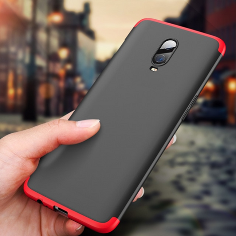Premium Anti Shock EAGLE Series Naked Hard Case with Soft Bumper Edges for OnePlus 6T / One Plus 6T / 1+6T - BLACK