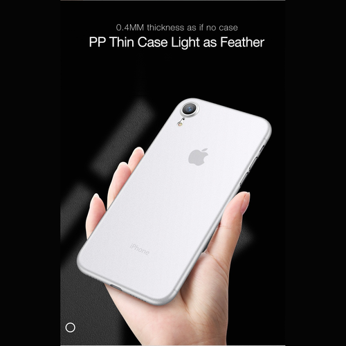"Luxury Ultra Slim 0.45mm [6 gram] Imported PP Material Anti Scratch Case for Apple iPhone XR (6.1"")"
