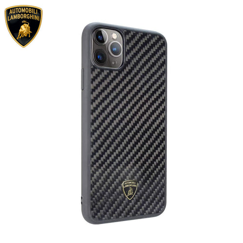 Lamborghini® Apple iPhone 11 Pro Max Genuine Carbon Fibre Elemento D3 Back Case Cover