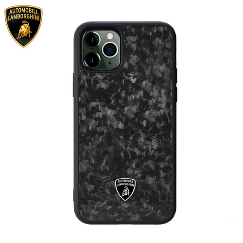 Lamborghini® Apple iPhone 11 Genuine Forged Carbon Fibre Marble Design Huracan D14 Back Case Cover