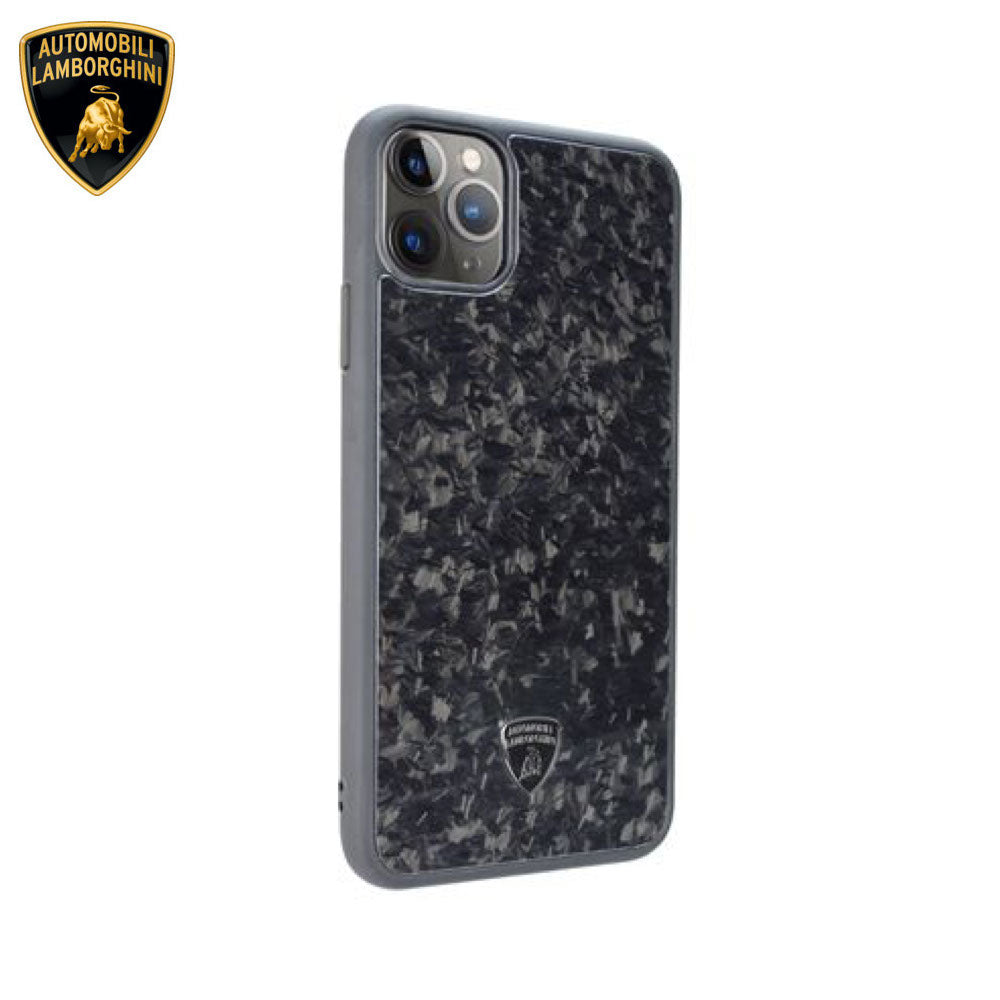 Lamborghini® Apple iPhone 11 Pro Max Genuine Forged Carbon Fibre Marble Design Huracan D14 Back Case Cover