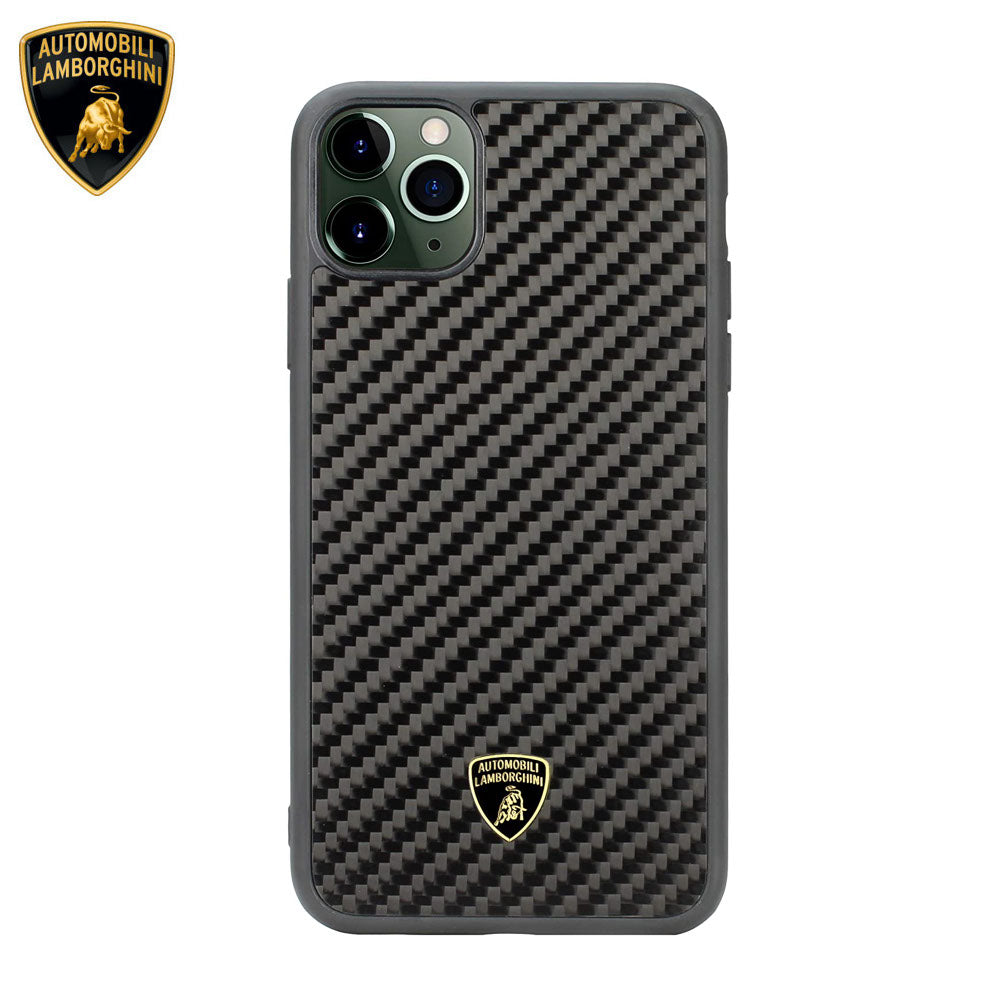 Lamborghini® Apple iPhone 11 Genuine Carbon Fibre Elemento D3 Back Case Cover