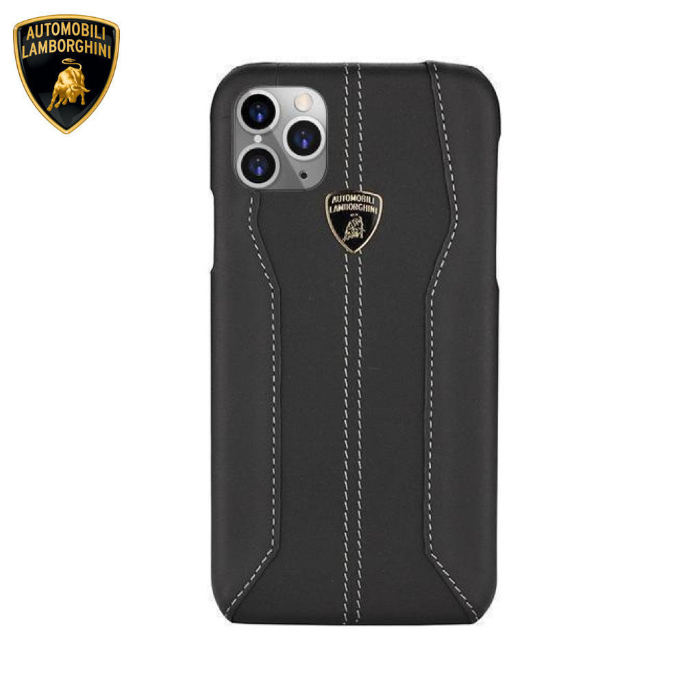 Lamborghini® Apple iPhone 11 Pro Max Huracan D1 Genuine Leather Back Case Cover