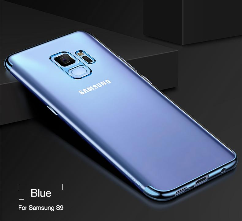Premium Luxury Plating Series Soft TPU for Samsung Galaxy S9