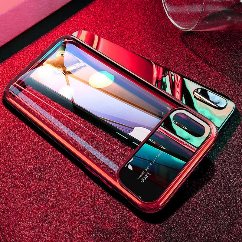 Luxury Magic Series Ultra Thin Clear Hard PC Back with Electroplating Edges Back Case for Apple iPhone X / XS