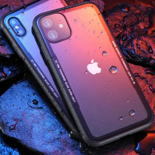 Luxury See Through Unique Glass Case for iPhone 11  [Best Selling Case]