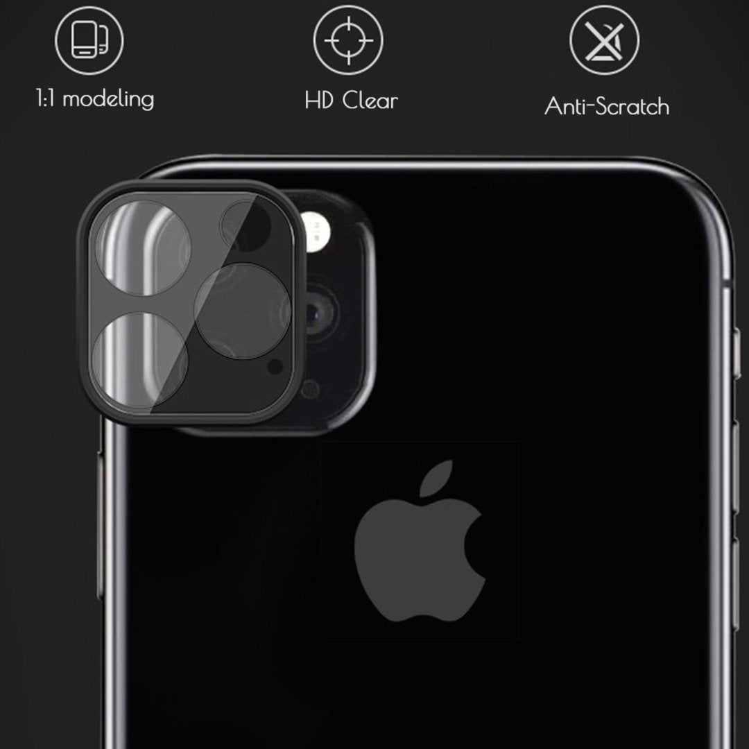 Totu® iPhone 11 Series Camera Tempered Glass Lens Protector with Metal Shell