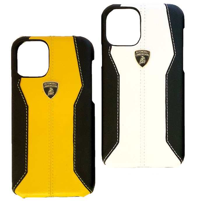 Lamborghini® Apple iPhone 11 Huracan D1 Genuine Leather Back Case Cover
