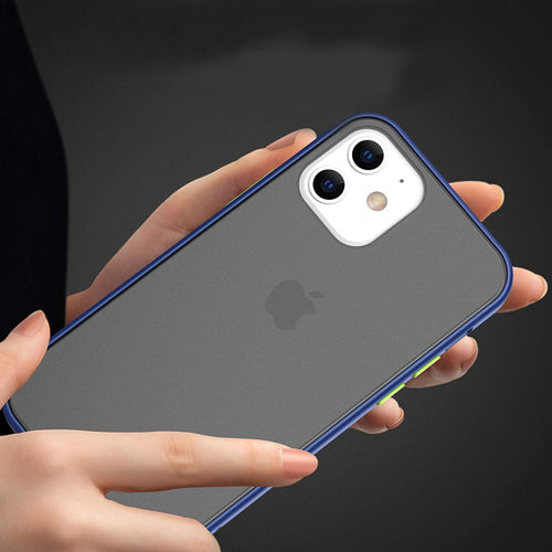 HENKS® iPhone 12 Mini Luxury Shockproof Matte Finish Case.