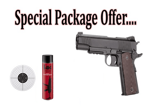 Artemis M1911 Airsoft Pistol Package Deal
