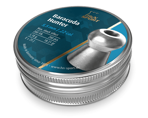 H&N Baracuda Hunter .22 Cal, (18.21 gr) Pellets