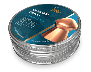 H&N Baracuda Power .22 Cal, (21.14 gr) Pellets