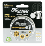 SIG Sauer Pellets Match Ballistic Alloy ‎500 ‎pcs ‎.‎177 ‎