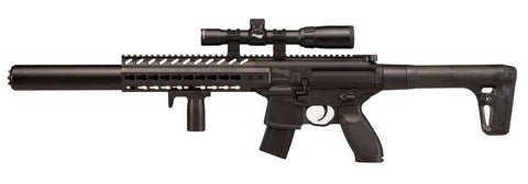 Sig Sauer MCX AIR RIFLE BLACK WITH SCOPE, .177 CALIBER