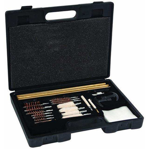 UNIVERSAL CLEANING KIT IN MOLDED TOOL BOX, 37 PIECES