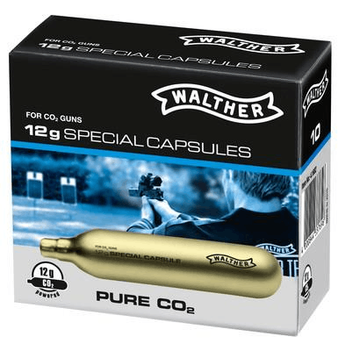 Walther CO2 Capsules, content 12 g Pack of 10 By Umarex
