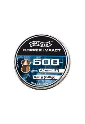 Walther Copper Impact Pointed Waisted Pellets 4,5 mm, 500 pcs By Umarex