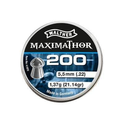 Walther Maximathor Pellets cal. 5,5 mm (.22) 200 pcs By Umarex