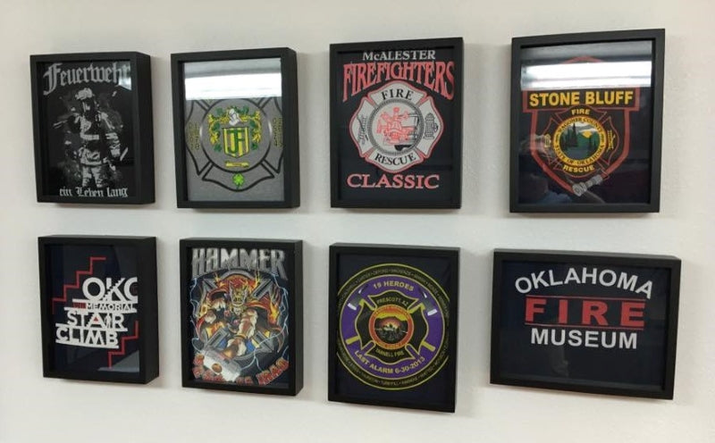 Shart T-Shirt Frames make Great Decoration for Fire Stations