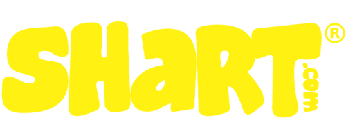 Shart.com Company Logo in Yellow with Registered Trademark Symbol