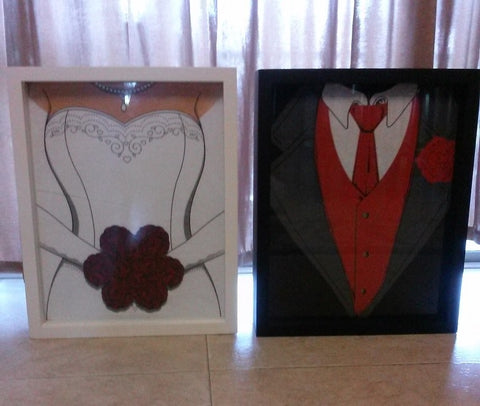 Shart T Shirt Display Frames make great gifts for weddings and wedding showers