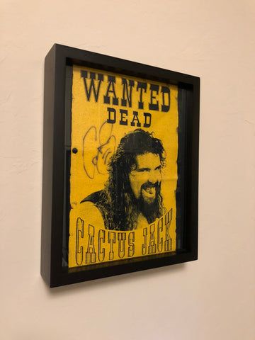 WWE Cactus Jack Signed T Shirt in Shart Original T-Shirt Frame #cactusjack #wwe