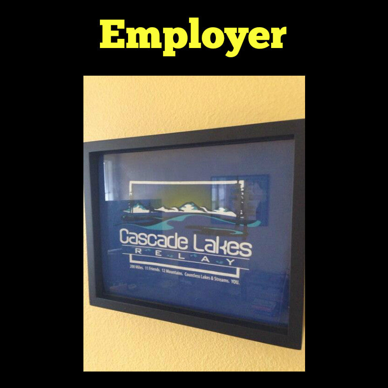 Framed Employer T-Shirt displayed in Shart T-Shirt Frame
