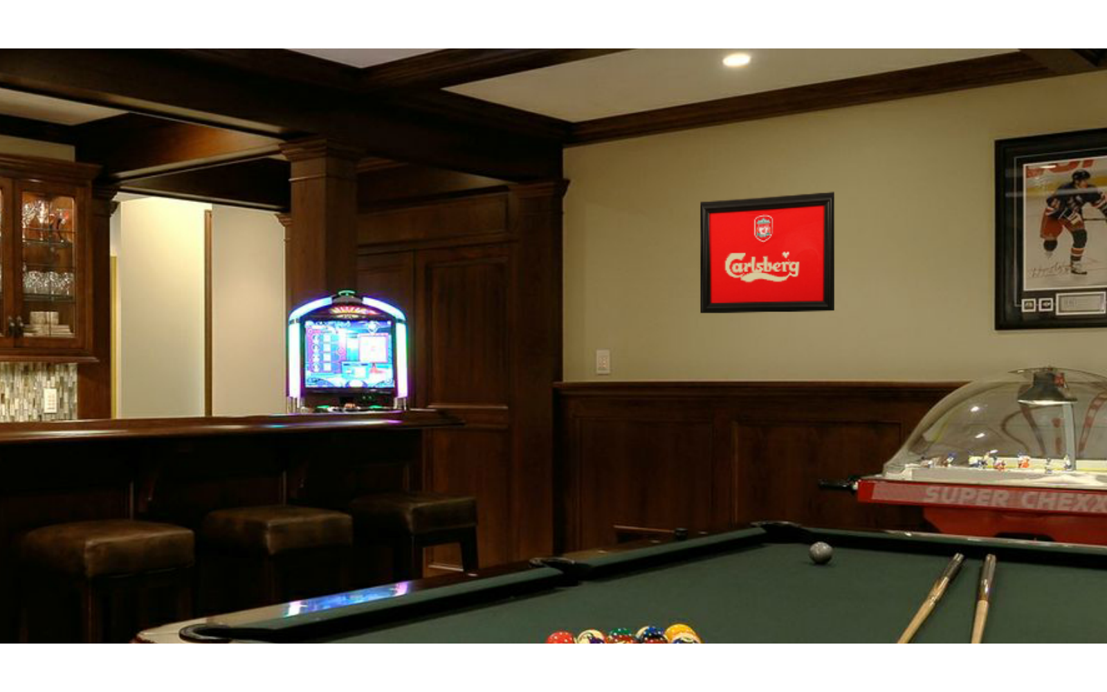 Shart T-Shirt Display Frames are Great Decoration for Game Rooms, Bars and Man Caves