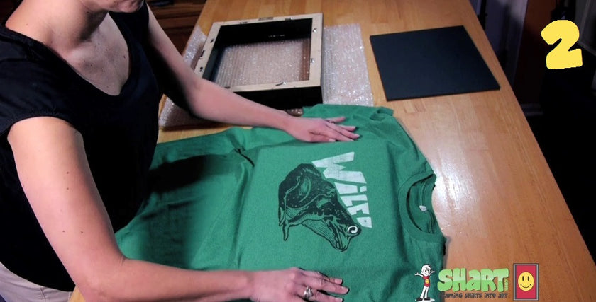 How to Frame a T-Shirt for Display Step Two - Shart Tee Shirt Frame