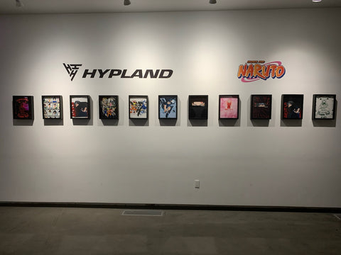 #Hypland Pop-Up Store Tee-Shirt Display in Shart Original T-Shirt Display Frames