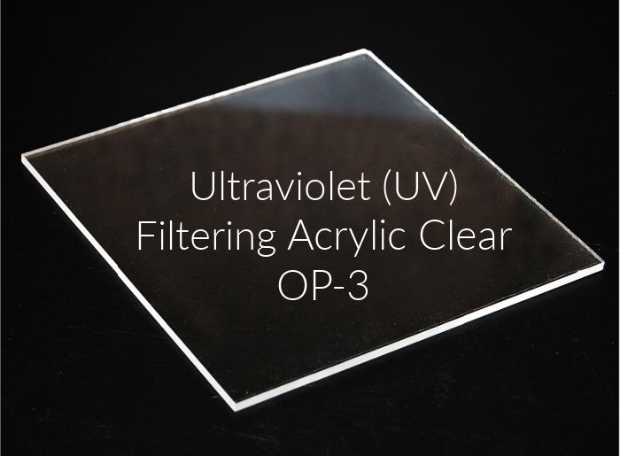 You can upgrade our Premium Frames to UV Filtering OP-3 Acrylic Glass
