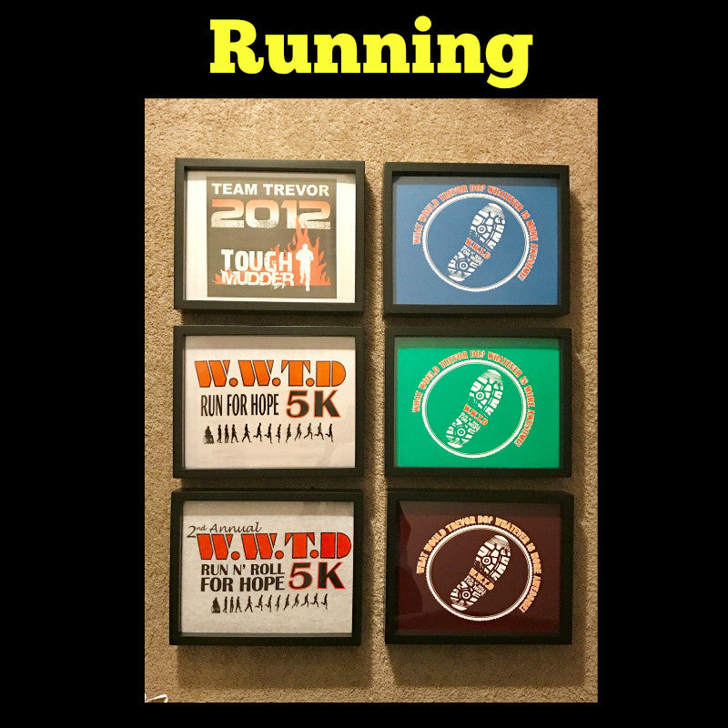 Framed Running and Marathon T-Shirt displayed in Shart T-Shirt Frame