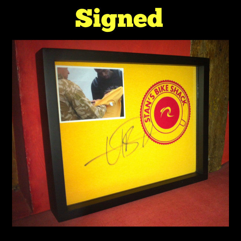 Framed Signed T-Shirt displayed in Shart T-Shirt Frame, Great for Signed T-Shirts of All Kind