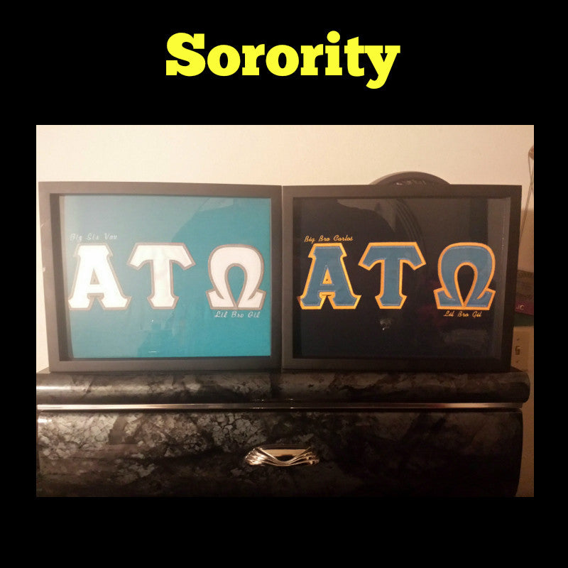 Framed Fraternity and Sorority T-Shirt displayed in Shart T-Shirt Frame