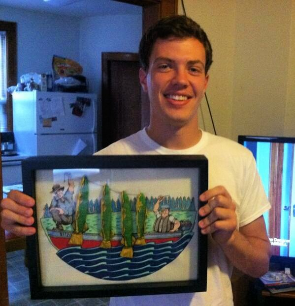 Happy Customer testimonial from Shart.com with his favorite fishing T-Shirt Displayed in Shart T-Shirt Frame