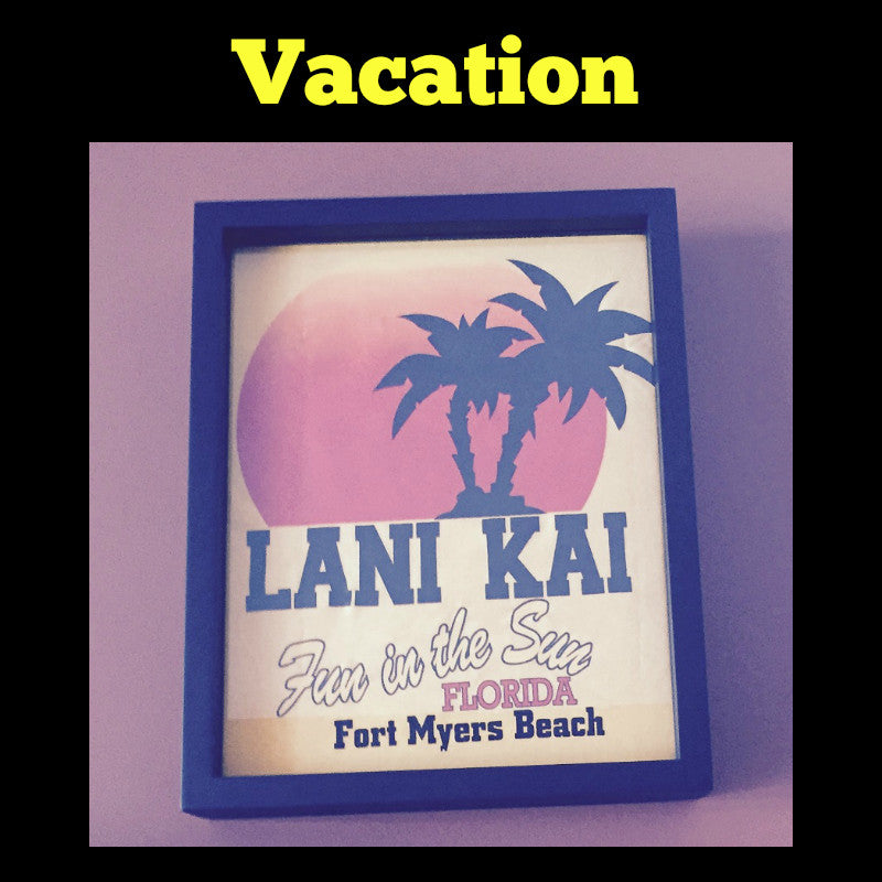 Framed Vacation T-Shirt displayed in Shart T-Shirt Frame