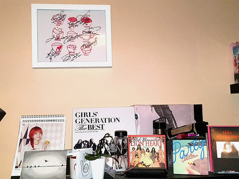 Signed Girl's Generation tee shirt framed and displayed in a Shart T-Shirt Frame Display Case