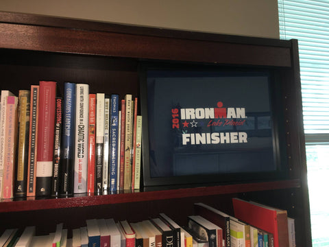 Ironman tee shirt framed and displayed in a Shart T-Shirt Frame Display Case