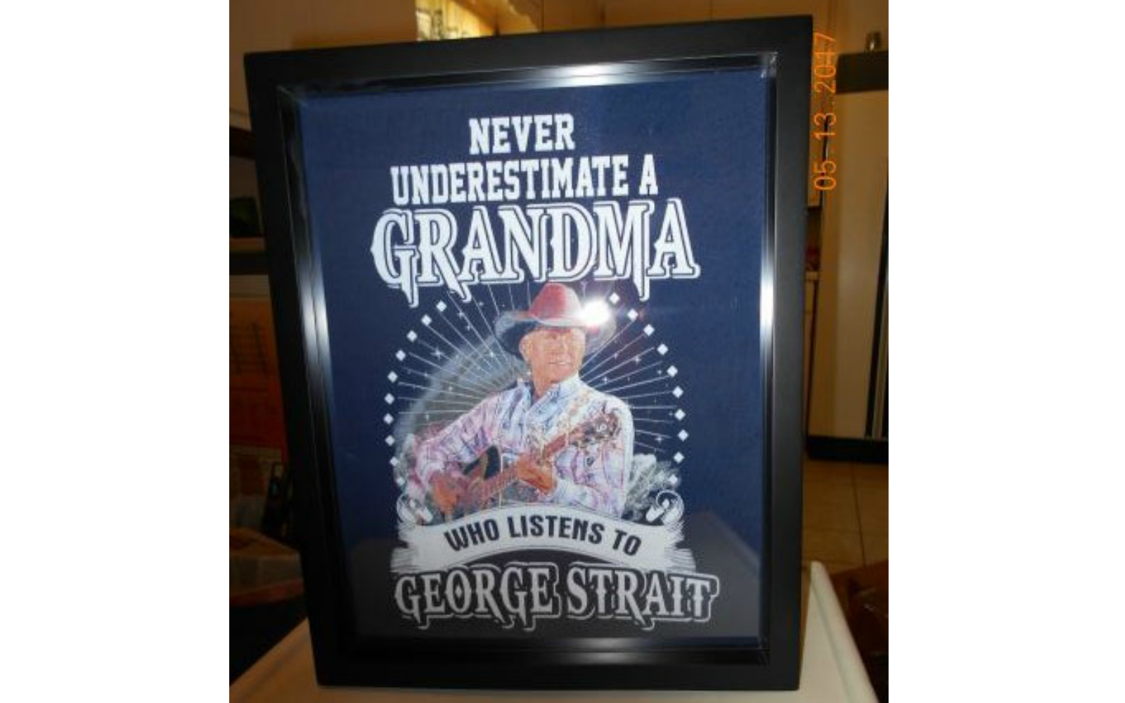 Country Music T-Shirt in a Shart Tee Shirt Display Frame