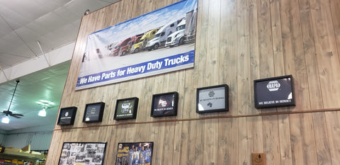 Tee Shirt Frame Display at Toledo Automotive Supply