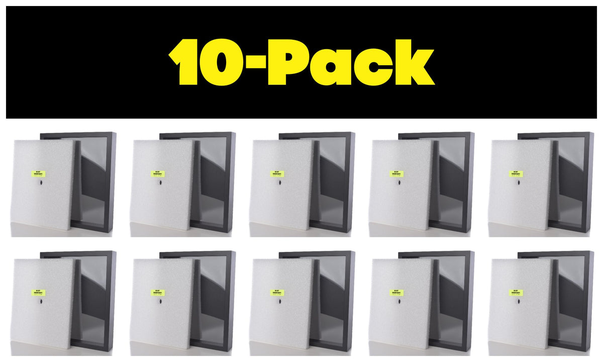 Shart Original T-Shirt Frame Display Case 10-Pack (Black) - Shart.com