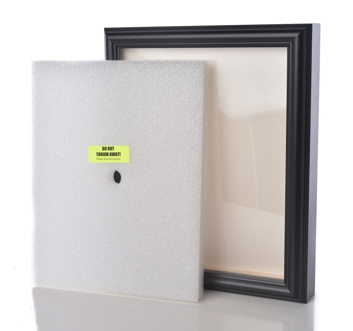 Shart Premium Round T Shirt Frame Display Case - Black - Shart.com