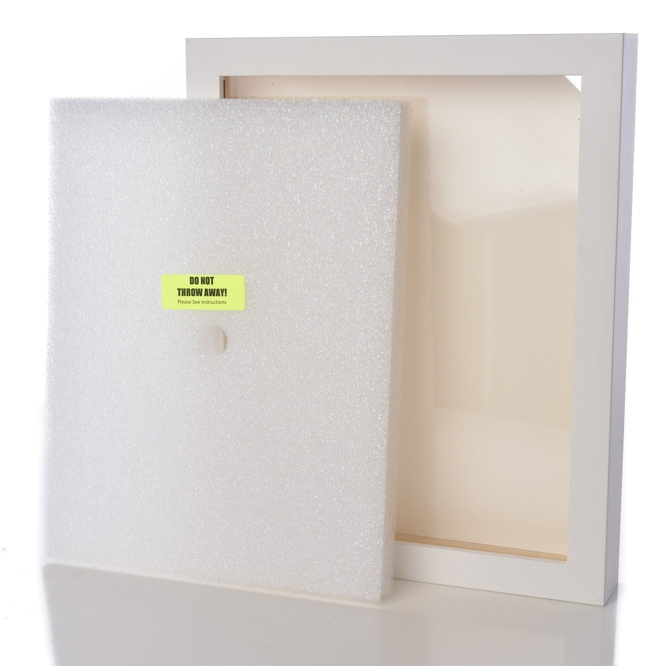 Shart Premium Square T Shirt Frame Display Case – White - Shart.com