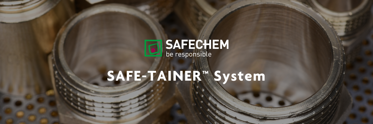 SAFE-TAINER System Banner | Univar Specialty Consumables