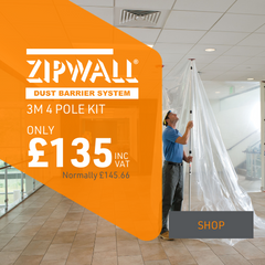 ZipWall 3M 4 Pack kit only £135   P&D Show Exclusive Offer
